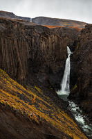 Hengifoss and litlanesfoss waterfalls, Iceland