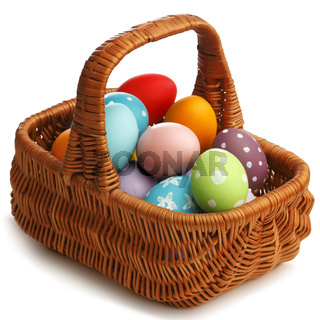 Basket with eater eggs