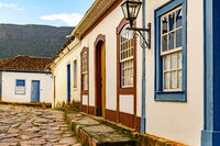 Streets and facades of the old and historic city of Tiradentes