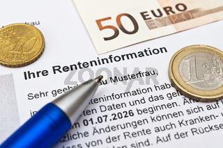 Rentenversicherung Renteninformation erhalten