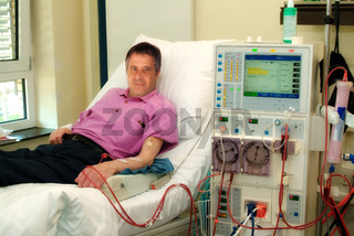 Patient am Dialysegerät