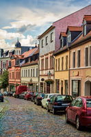 Bernburg, Germany - 06/20/2019 - Street in the old town