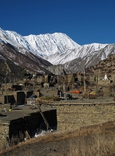 View of Khangsar and Tilicho Peak, Nepal