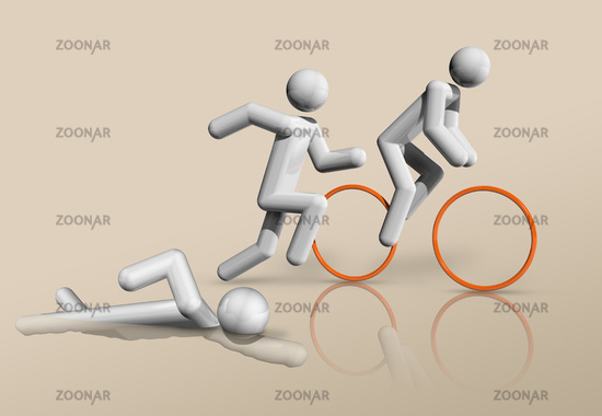 Triathlon 3D icon, Olympic sports