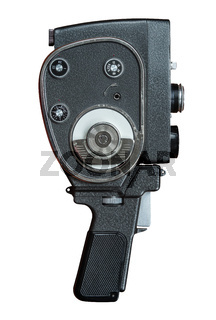 Isolated Vintage Super 8 Film Camera