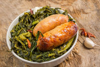 salsicce e  friarielli- sausages and fried broccoli