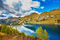 Lago di Fedaia in the Dolomites