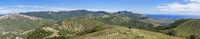 Panorama of the Tokluk mountain range. Crimea.