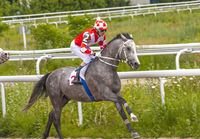 Horse race in Pyatigorsk.