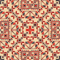 Romanian traditional pattern 128