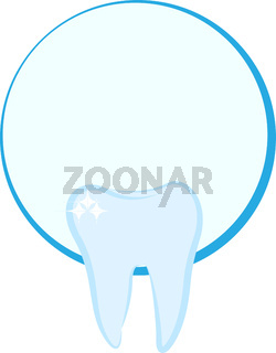 Tooth shaped logo for a dentist conpany