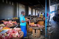 Meat market in Windhoek, Namibia