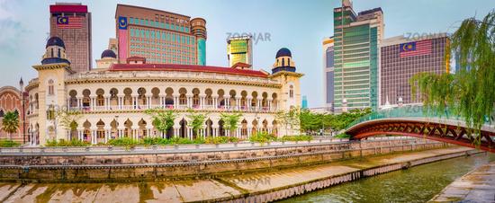 Kuala Lumpur cityscape, Malaysia. Panorama