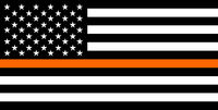 thin orange line flag