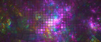 Fractal abstract background horizontal multi colored image