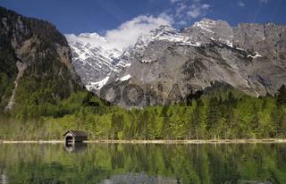 Boathouse on the Konigssee