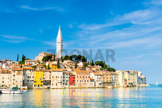 Coastal town of Rovinj, Istria, Croatia.