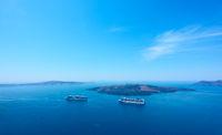 Aegean Sea from Santorini island