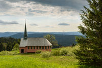 The St. Pius Chapel on the Kandel near Freiburg, Black Forest, Baden-Wuerttemberg, Germany