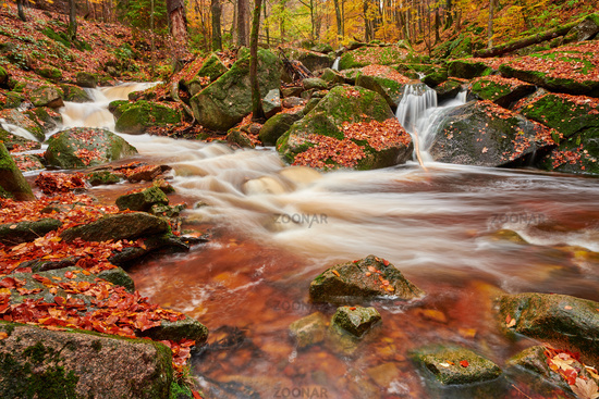 Ilse valley in autumn Germany