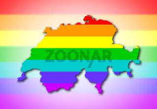 Switzerland - Rainbow flag pattern