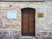 new entrance door to the synagogue Jewish community in Halle (Saale)