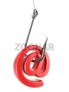 Phishing e-mail. 3d