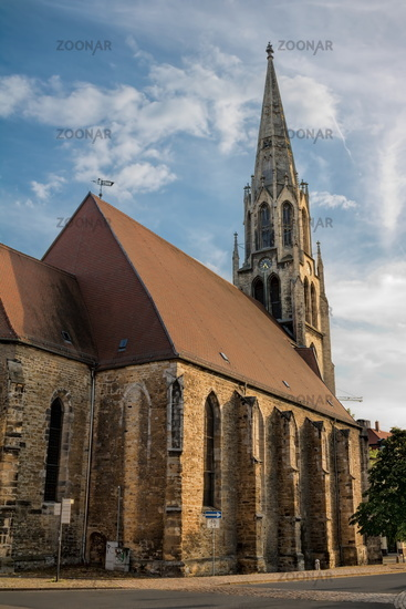 Merseburg, Germany - 06/18/2019 - The rear of the St. Maximi Church