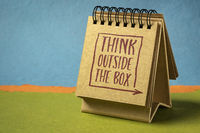 think outside the box - inspirational concept