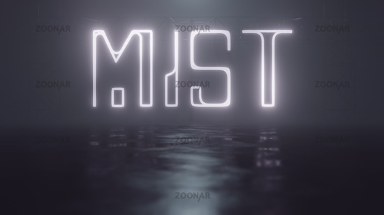 neon light sign mist
