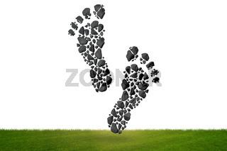 Carbon footprint concept - 3d rendering