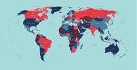 World political vector detailed map