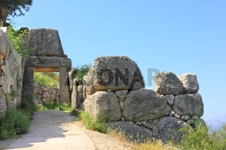 North gate in ancient Greek town Mycenae