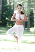Yoga woman outdoor