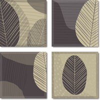 multi-page botanical abstract background or poster template