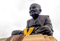 The sculptures of the sacred monks for worship and reminiscing have passed away