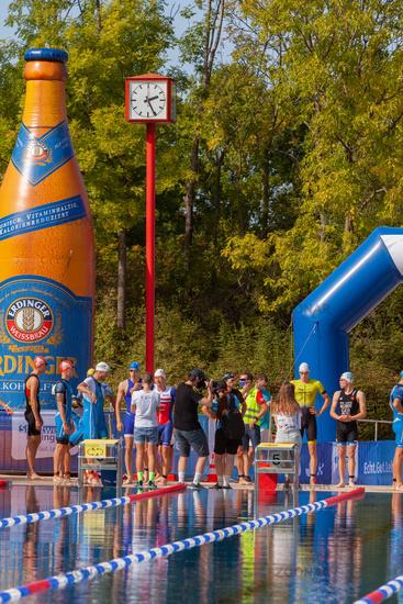 Ratingen/Deutschland/ Nordrhein-Westfalen -20.September: 12. Stadtwerke Ratingen Triathlon ein histo