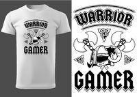 White T-shirt Warrior Gamer