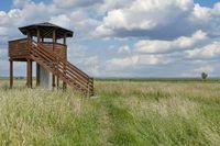 Watch Tower at Katinger Watt,North Sea,North Frisia,Germany