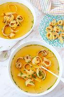 Schaebische Flaedle soup