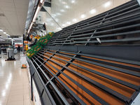 Inside of grocery supermarket chain during Covid-19 coronavirus