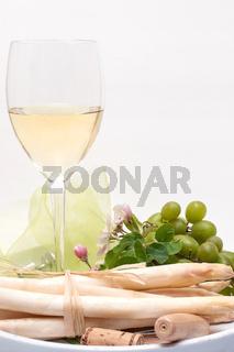 Enjoying white-wine