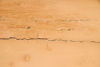 Old Wall With Weathered Orange Paint Background Te