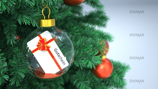 Christmas Tree Bauble Gutschein