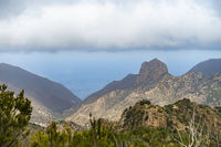 View from the Garajonay National Park down into the valley of Valhermoso - La Gomera
