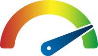 performance dial, performance speedometer or efficiency rating