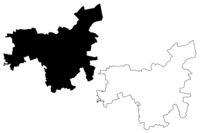 Dobele Municipality (Republic of Latvia, Administrative divisions of Latvia, Municipalities and their territorial units) map vector illustration, scribble sketch Dobele map