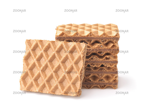 Stack of chocolate stuffed wafers