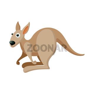 Kangaroo icon, cartoon style