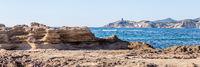 Tower at the West coast along Costa Tentizzos near Bosa on Sardinia islands, Italy